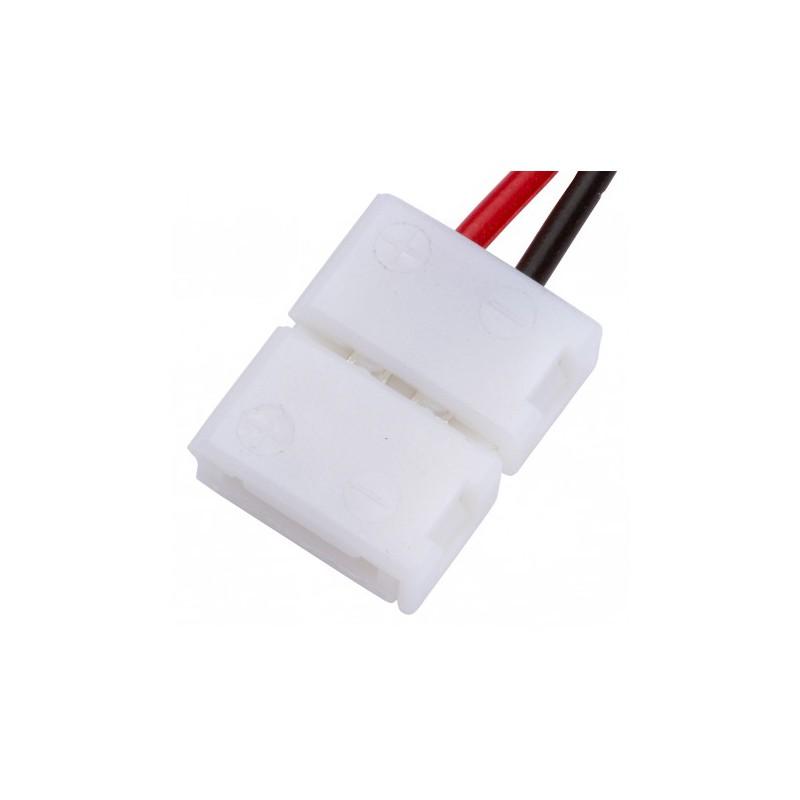 Conector Tira LED SMD3528/2835 2 Vías Simple 12/24VDC