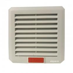 Rejilla con filtro y ventilador 110x110mm