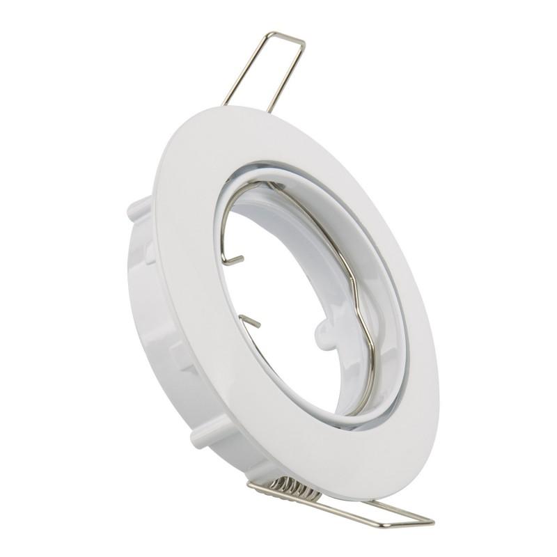 Aro Downlight Circular Basculante para Bombilla LED GU10