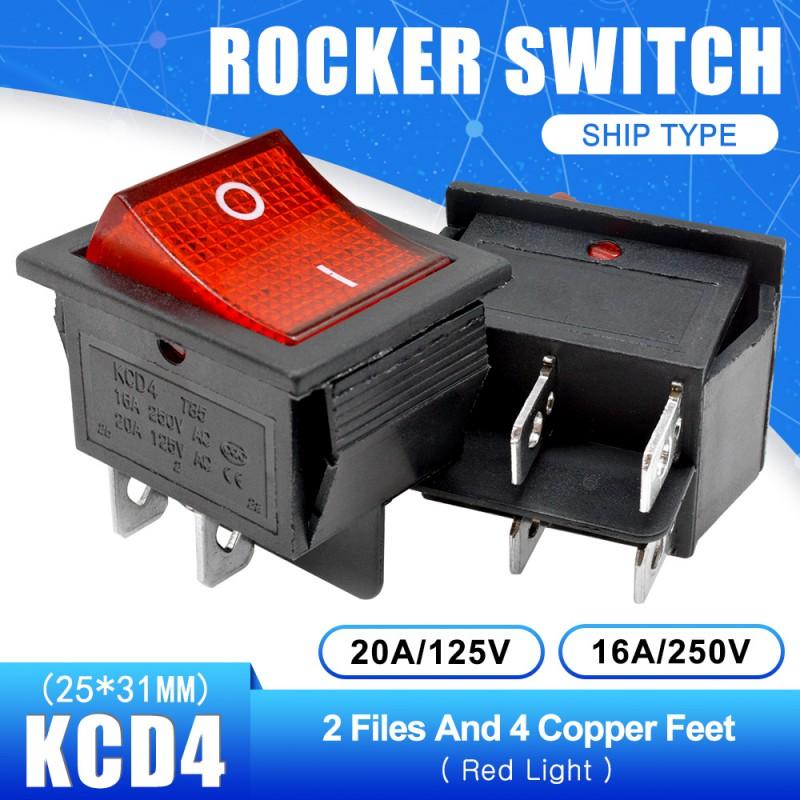 Interruptor basculante 2 posiciones 4 pines 10A 250VAC AC