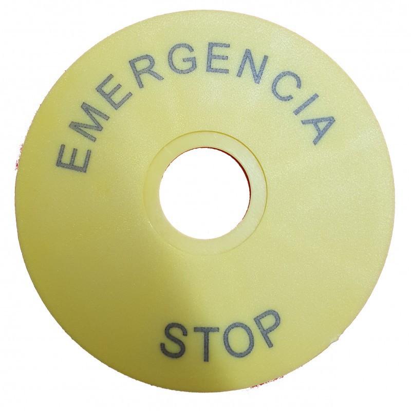Carátula de emergencia diámetro 60