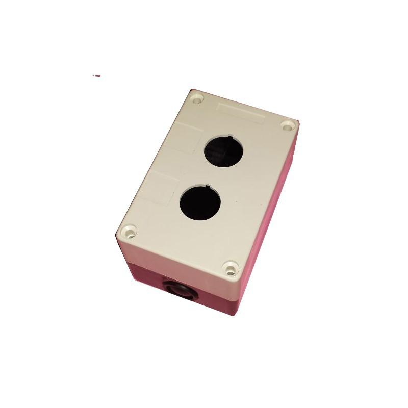 Caja botonera 2 elementos diámetro 22 plástico