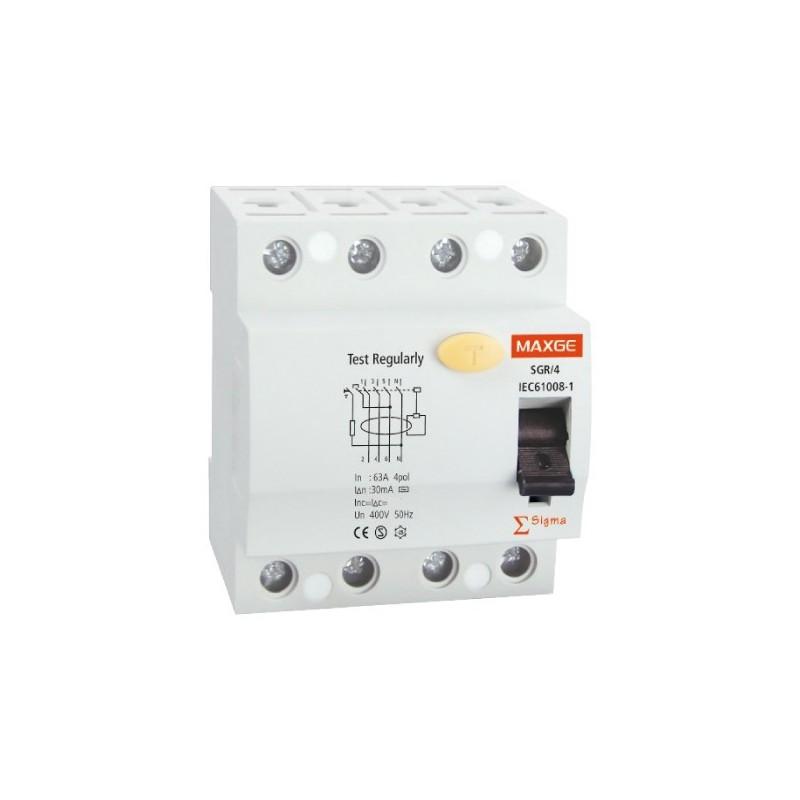 Interruptor Diferencial Industrial 4P-30mA-Clase AC-10kA