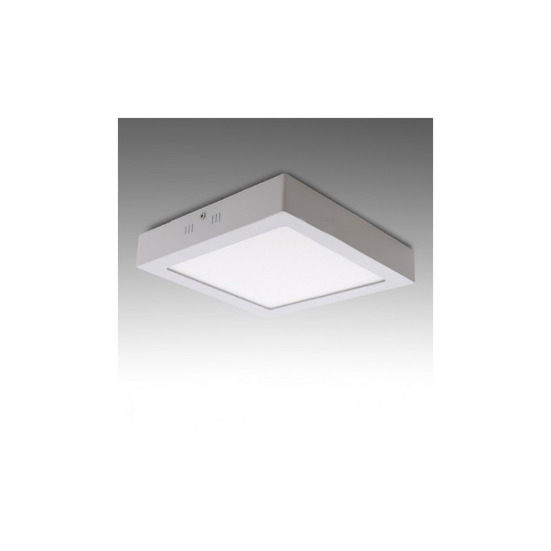 Plafón LED Cuadrado Superficie 18w